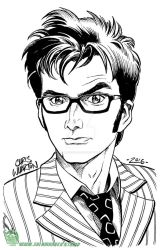 10th Doctor Who - David Tennant by SalamanderArt