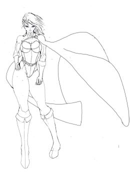 PowerGirl (Sketch) by sinus05