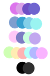 Pastel Goth Palette by Hollena
