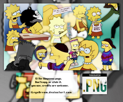 THE SIMPSONS OVERLAYS (13 PNG'S). by iLegoDream