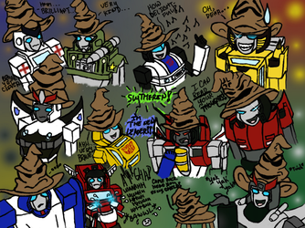 Sorting First year Autobots by HockeyWitch