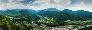 Panorama view from Yamadera by nathanspotts