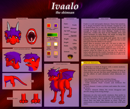 Ivaalo the shimsan - Reference Sheet by Ivaalo