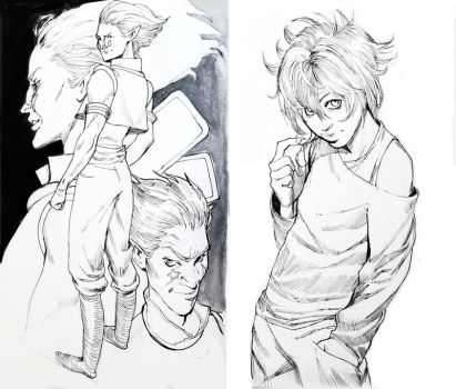 HunterxHunter sketchbook pages by mannequin-atelier