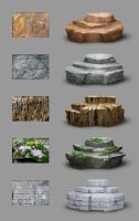 Material study - rocks by MittMac