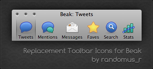Beak Replacement Toolbar Icons by randomus-r