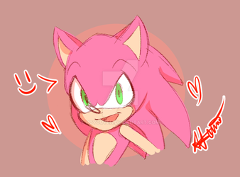 Pink Sanic by Royouten
