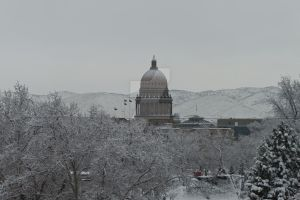 Snow covered Capitol Building by ShawnHenry