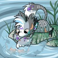 Playing with Fish by Momoless