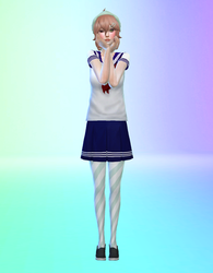 Yandere Simulator to The Sims 4: Amai Set by We1rdUsername