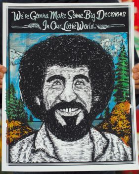 Bob Ross - Art Print by xzebulonx