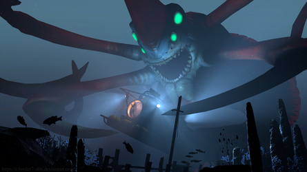 Subnautica - Reaper Leviathan by cfowler7-SFM