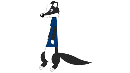 Terry the Badger's New Design by LouieYellowFox