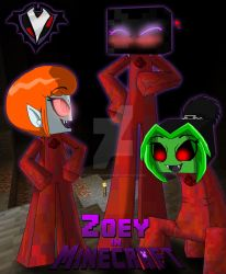 Zoey in Minecraft - Redstone Suits by PlayboyVampire
