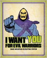 Skeletor - We want you for evil warriors by ItomiBhaa