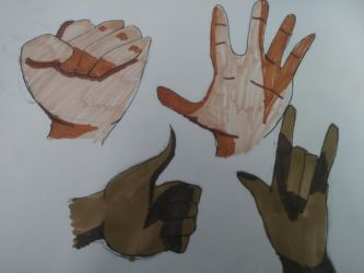 Hand Practice by Splashed-Canvas
