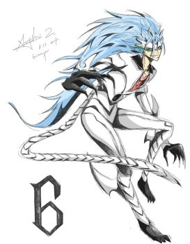 Espada 6: Grimmjow (Colored) by iheartsonic