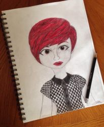 Red Haired Pixie by AeroSplat