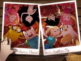 adventure time fall commemorativephotograph by greenflake2253