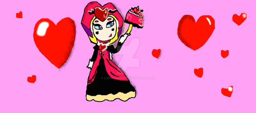 Contest entry: The queen of hearts by lunathepup