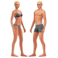 Sims 4: Male and Female Bases by Animation--Freak