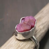 Raw Ruby ring by Jealousydesign