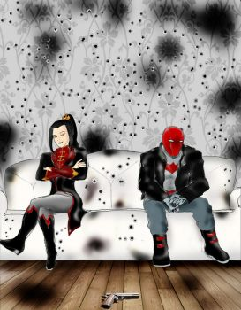 Unlikely band: Azula and Jason Todd by Omnipotrent