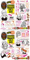 How to draw FEMALE HAIR STYLES tutorial by STUDIOBLINKTWICE