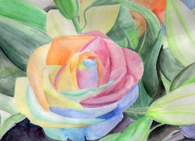 Watercolored Roses by Piranhartist