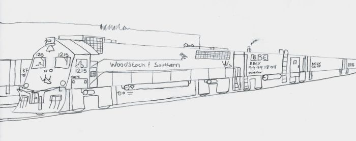 Woodstock and Southern HSD-9i #1215 by Tracksidegorilla1