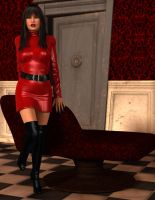 Bianca Bordeaux - Sexy in Leather by 007Fanatic