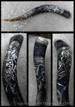 Comission work: Mammen style drinking horn by Huldukottr