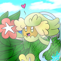 Comfey- Pkmn sun and moon by BriannaTheWolf599