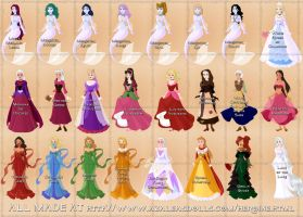 My fairy tale designs Disney-fied part 2 by Valor1387