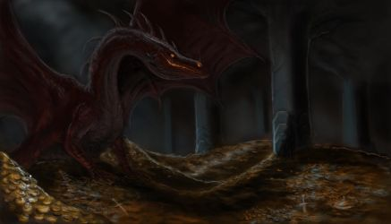 Smaug the golden by Martymart93