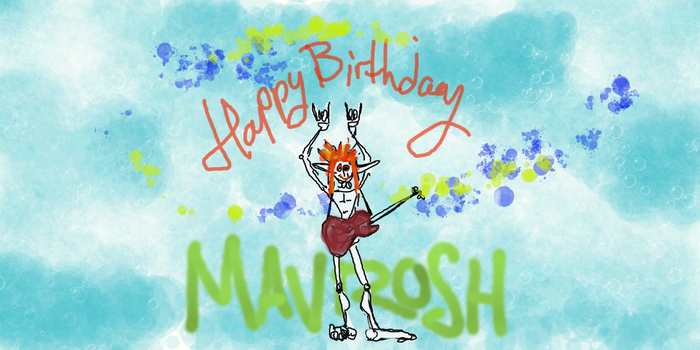 Aodh wish Mavrosh Happy Birthday by hawthorne-cat