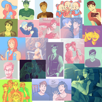 Tumblr Palette Challenges by incaseyouart