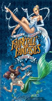 FairyTale Fantasies 2012 Calendar cover by J-Scott-Campbell