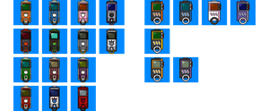 Digivice iC and Burst pixel avatars by digistardbz
