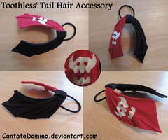 Toothless' Tail Hair Accessory! by CantateDomino