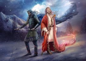Slavic mythology. Belobog and Chernobog by Vasylina