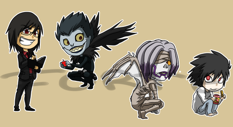 Stickers: Death Note 3 by forte-girl7