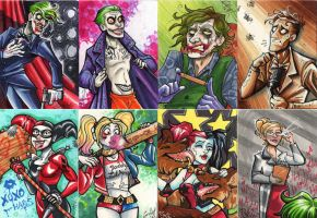 Joker and Harley Art Cards by GabbyVee