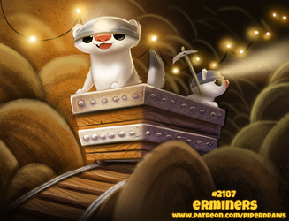 Daily Paint 2187. Erminers by Cryptid-Creations