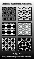 Islamic Seamless Patterns -Set 1 by bakenekogirl