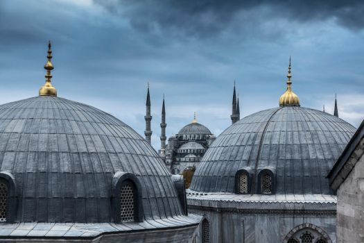A view to Sultan Ahmet, from Hagia Sophia s window by arslansinan