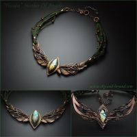 Hecate Mother Of Angels - necklace by rodicafrunze