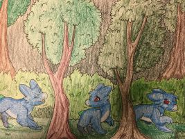 Lost in the deep woods- traditional by LoftyTrex