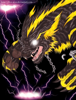 Element Lightning - Storm Wolf by Five-Aces