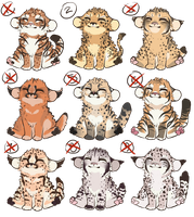 Big Cat Flat-Priced Adopts Closed! (0/9) by eto-nyan